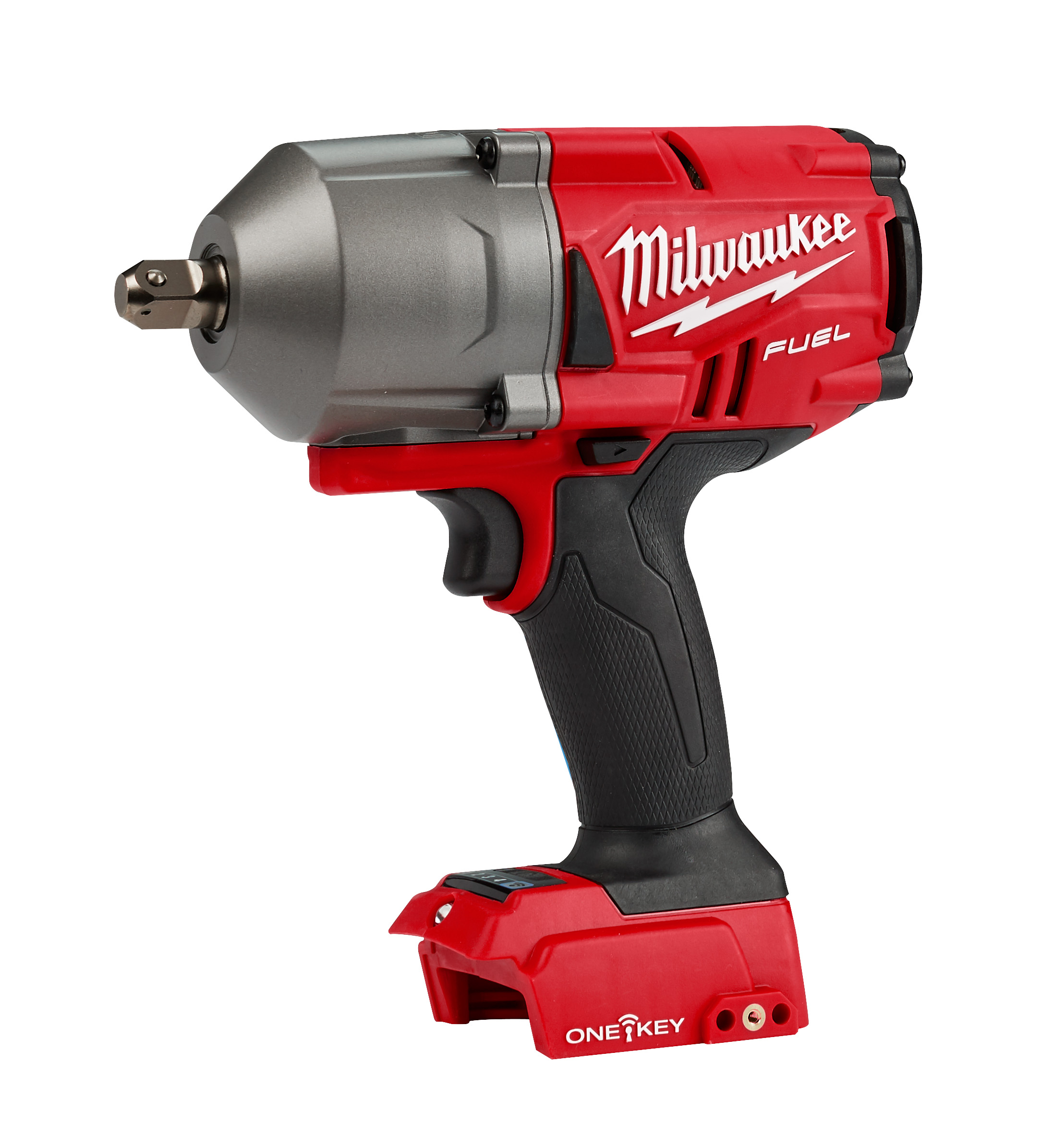 Milwaukee® M18™ FUEL™ ONE-KEY® 2862-20 Cordless High Torque Impact Wrench With 1/2 in Pin Detent Anvil, 1/2 in 4-Mode Straight Drive, 2400 bpm, 750/1100 ft-lb Torque, 18 VDC, 8-1/8 in OAL