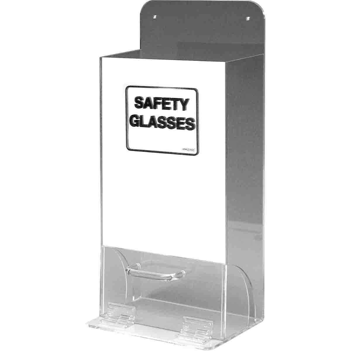 Brady® MVSDM 1-Compartment Deluxe Unfilled Visitor Spec Dispenser With Mirrored Front Panel, 20 to 25 Glasses Capacity, 18 in H x 8 in W x 4 in D, Acrylic, Wall Mount