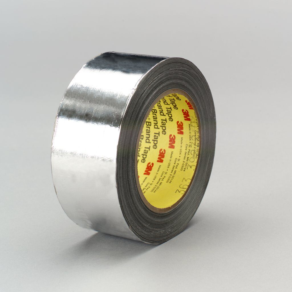 3M™ 363 Cloth Tape, 36 yd L x 2 in W, 7.3 mil THK, Silicon Adhesive, Glass Cloth Backing, Silver