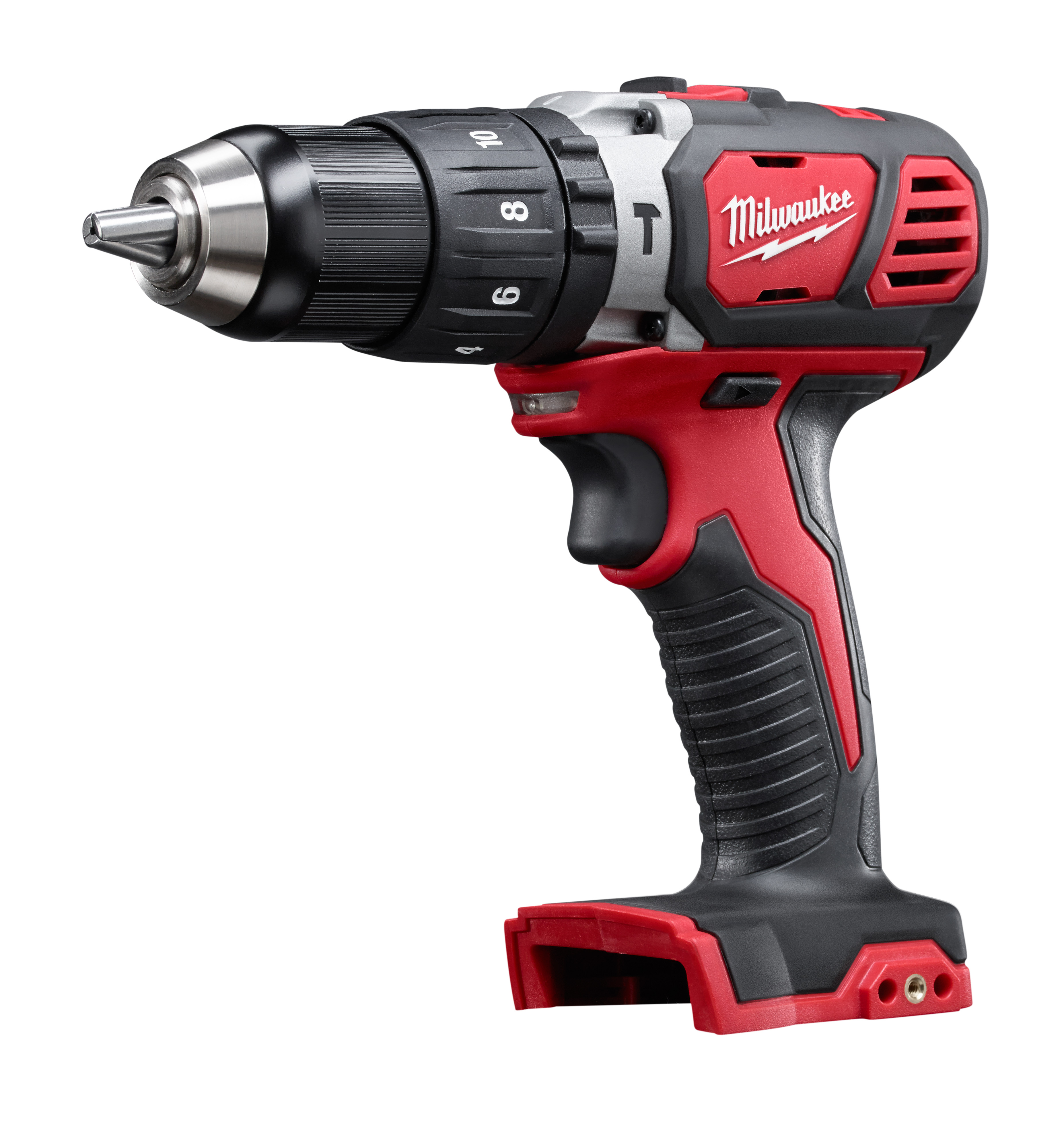 Milwaukee® M18™ 2607-20 Cordless Hammer Drill/Driver, 1/2 in Metal Single Sleeve Ratcheting Lock Chuck, 18 VDC, 400/1800 rpm No-Load, Lithium-Ion Battery