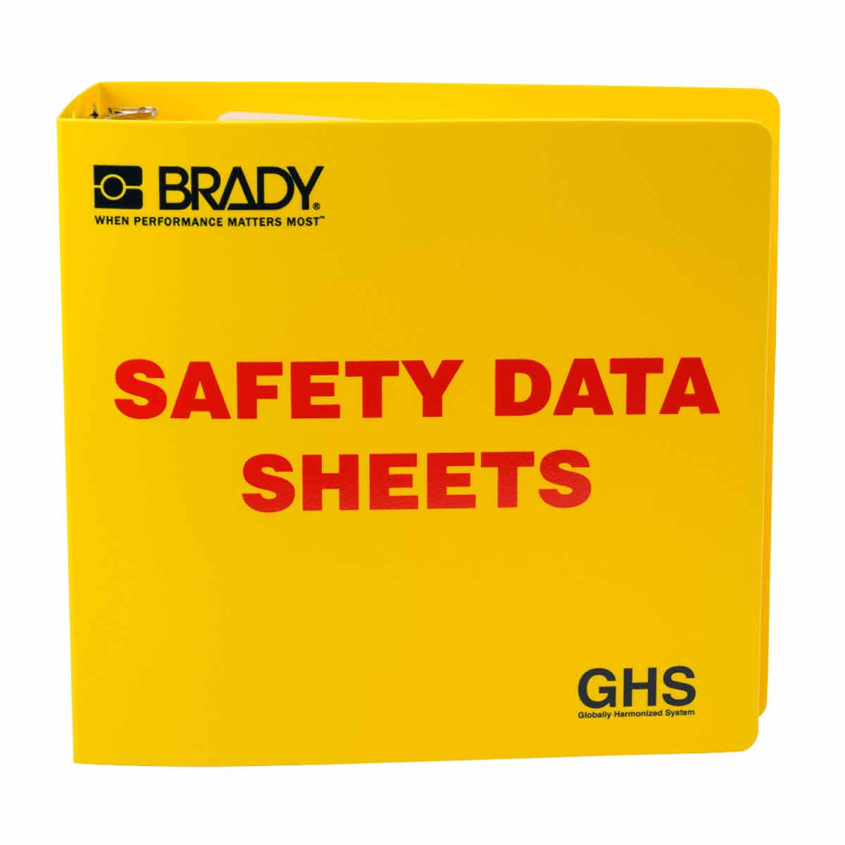 Brady® 121184 Right-To-Know SDS Binder, Safety Data Sheets (SDS) Legend, English, 3 in Ring, 11-5/8 in H x 11-3/4 in W