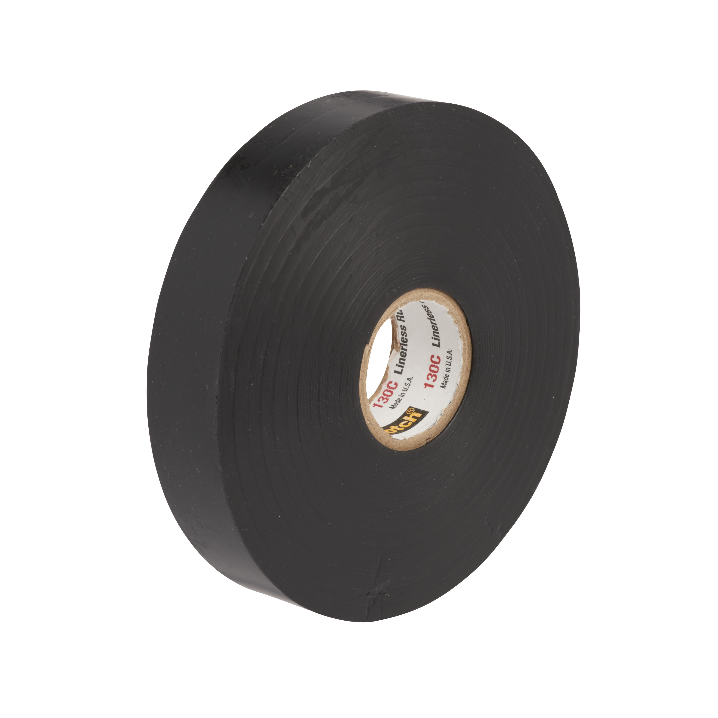 3M™ 130C-3/4X30FT Linerless Premium Grade Splicing Tape, 30 ft L x 3/4 in W, 30 mil THK, Rubber, Rubber Resin Adhesive, Rubber Backing, Black