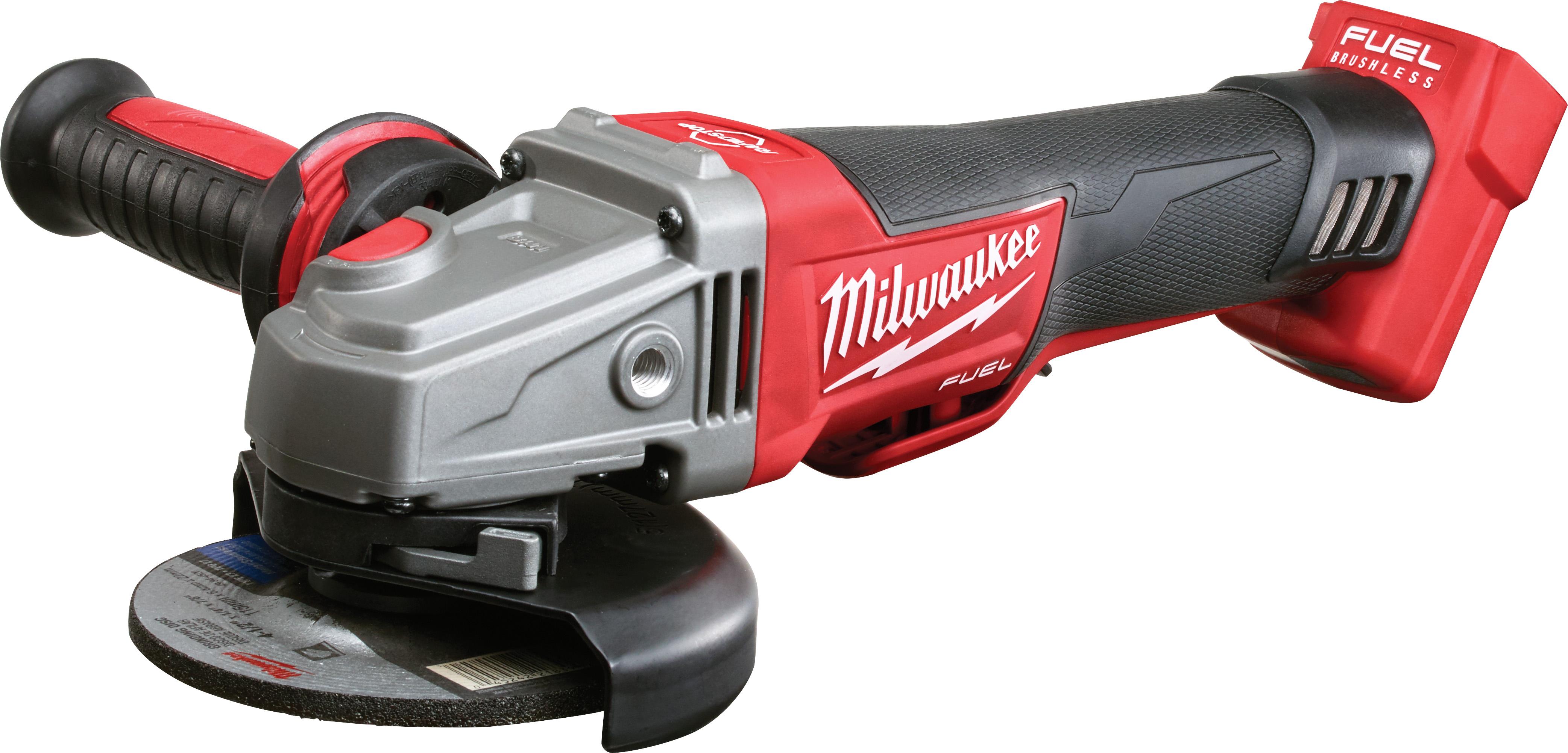 Milwaukee® M18™ FUEL™ 2783-20 Cordless Angle Braking Grinder, 5 in Dia Wheel, 5/8-11 Arbor/Shank, 18 VDC, M18™ REDLITHIUM™ Battery, Paddle No-Lock Switch