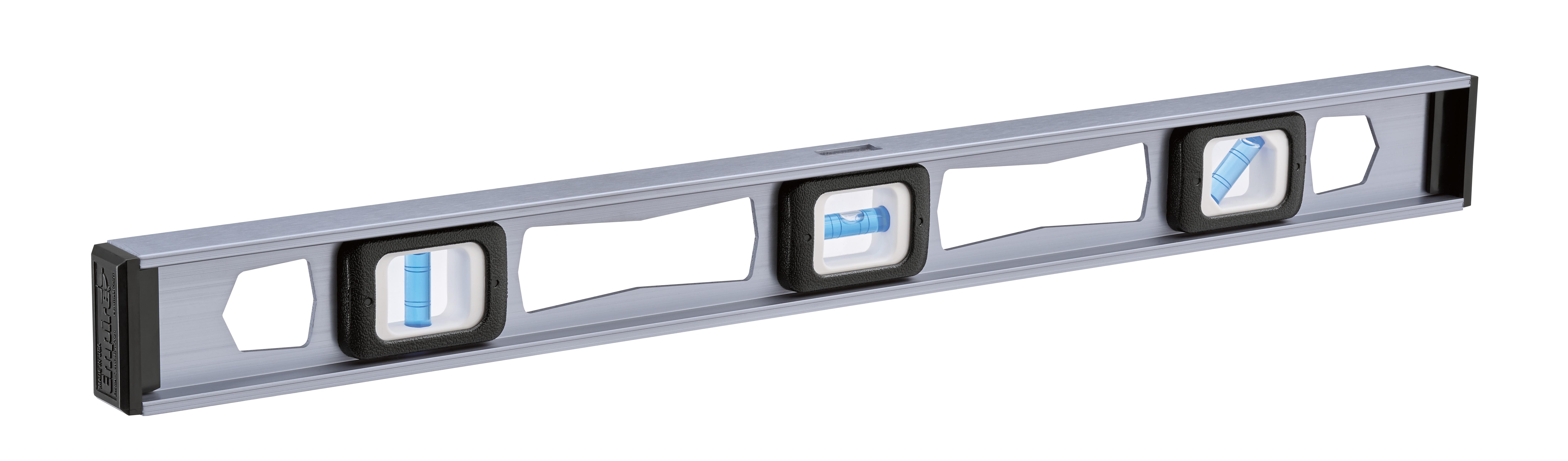 Milwaukee® Empire® TRUE BLUE® EM81.24 Heavy Duty Magnetic Professional I-Beam Level, 24 in L, 3 Vials, Aluminum, (1) 45 deg, (1) Level, (1) Plumb Vial Position, 0.0005 in Accuracy
