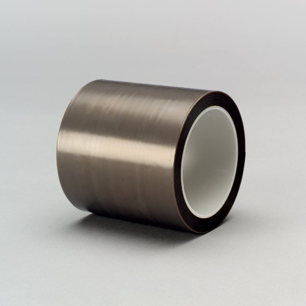 3M™ 5480 Film Tape, 36 yd L x 1/2 in W, 3.7 mil THK, Silicon Adhesive, Skived PTFE Backing, Gray