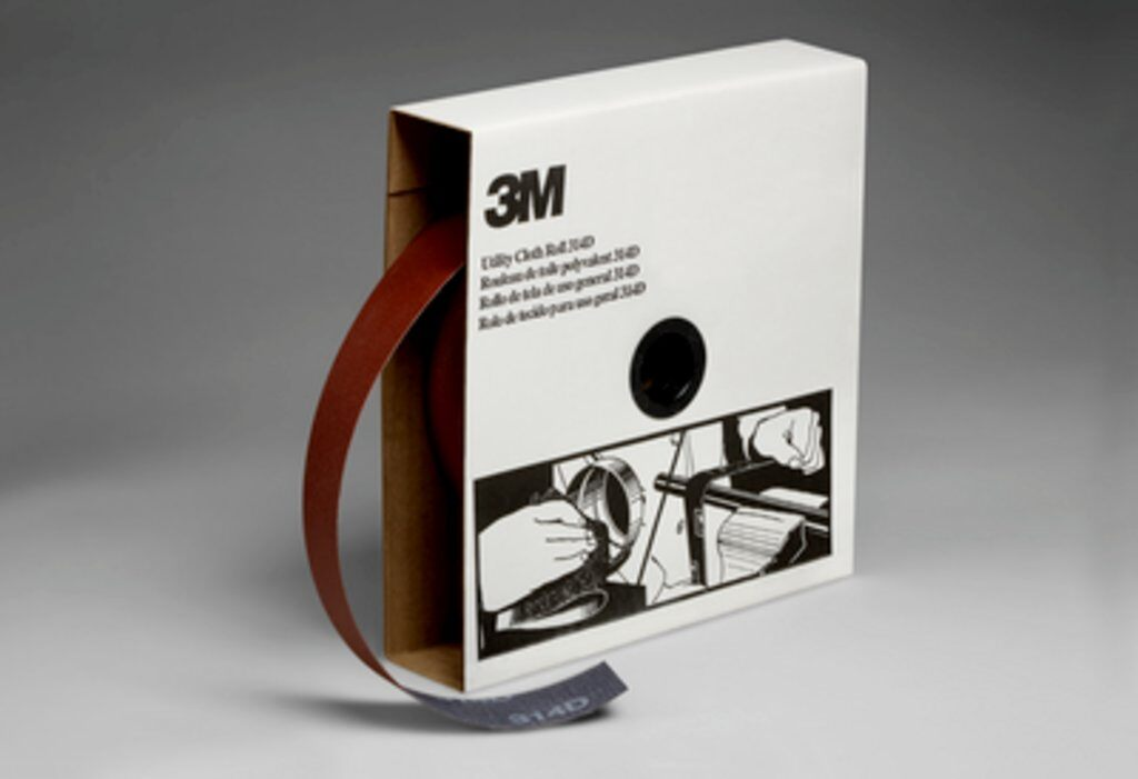 3M™ 19809 Utility Closed Coated Abrasive Roll, 50 yd L x 1-1/2 in W, 120 Grit, Fine Grade, Aluminum Oxide Abrasive, Cloth Backing