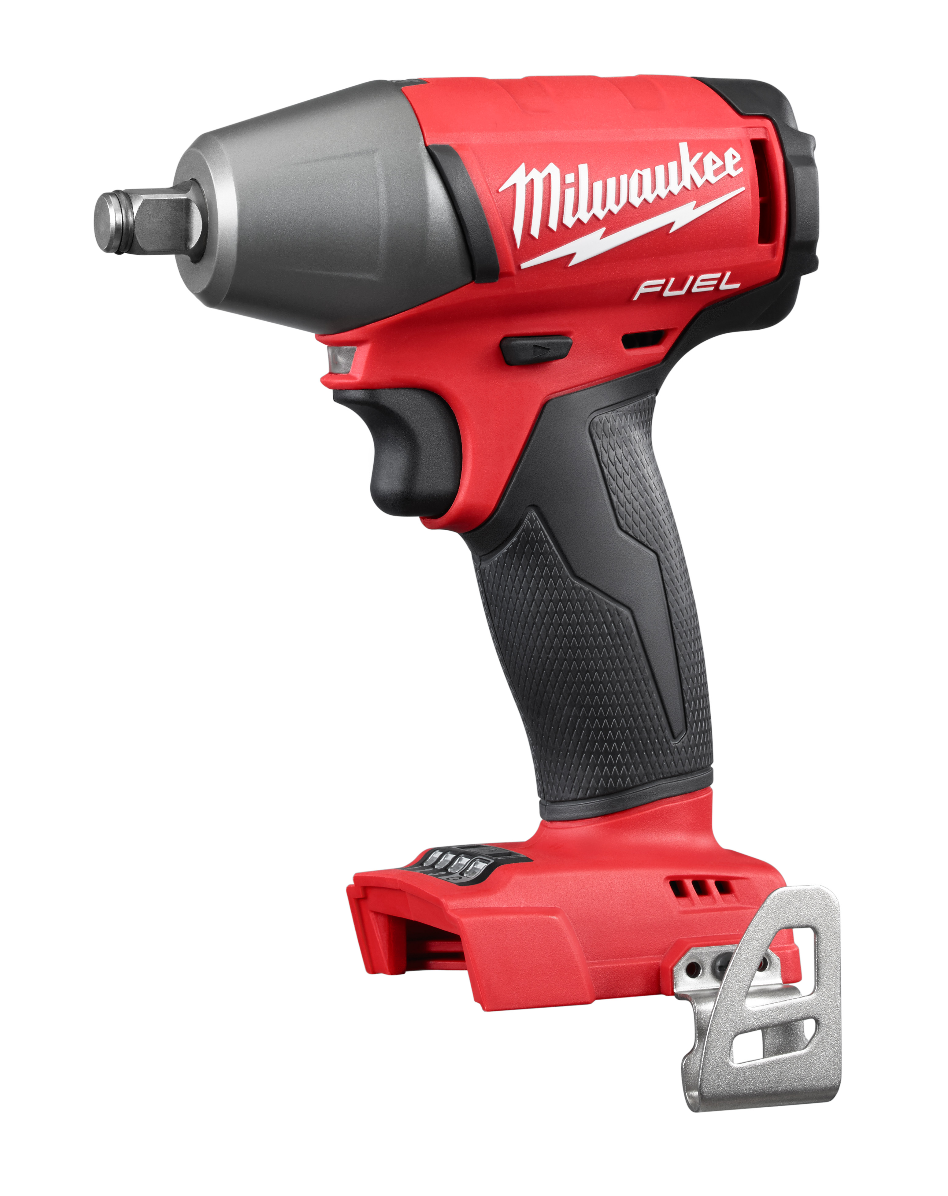 Milwaukee® M18™ FUEL™ 2755B-20 Compact Cordless Impact Wrench With Pin Detent, 1/2 in, 0 to 3200 bpm, 220 ft-lb Torque, 18 VDC, 6.1 in OAL