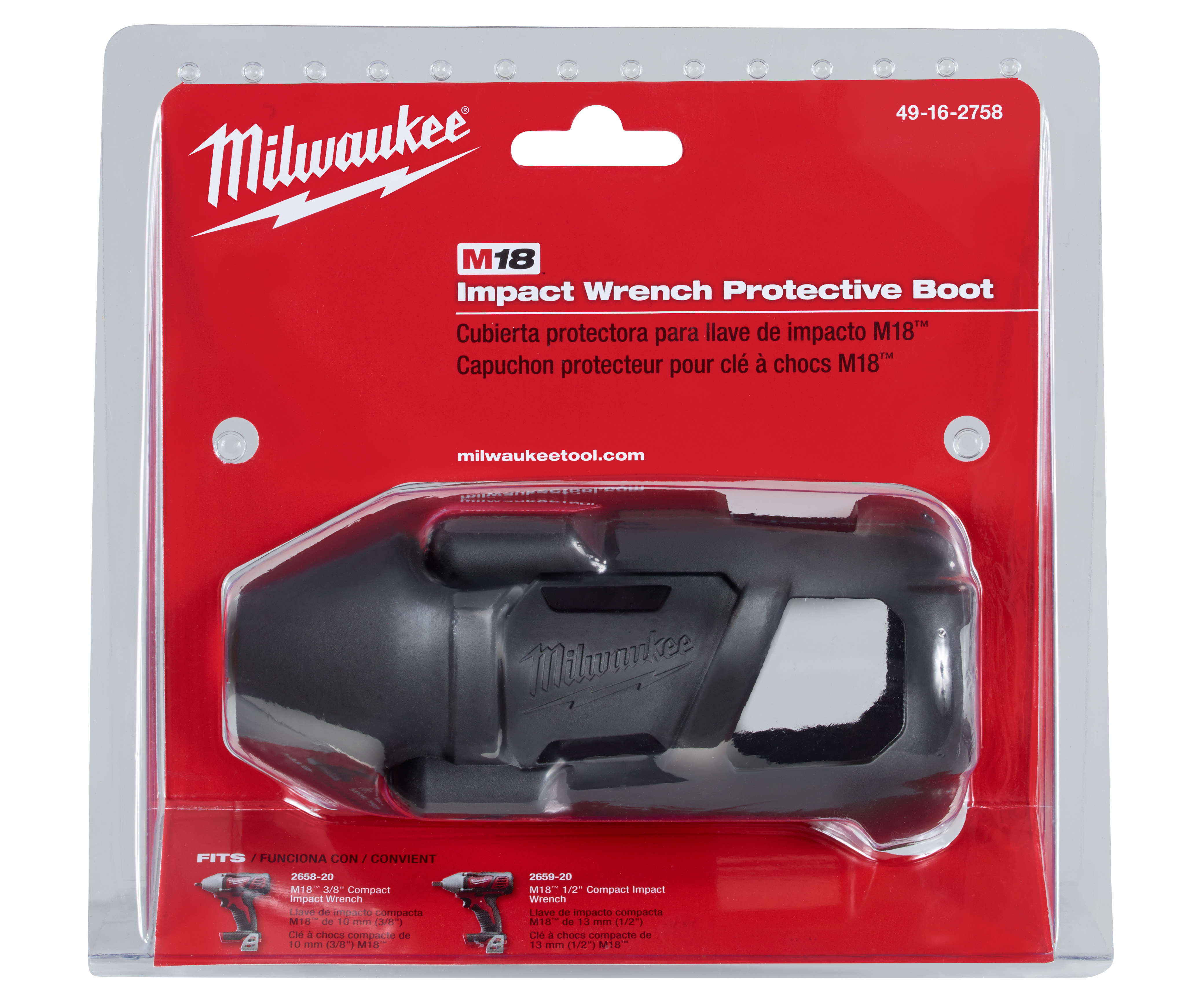 Milwaukee® M18™ 49-16-2758 CPIW Tool Cover, For Use With Milwaukee® M18™ 2658-20 and 2659-20 Compact Impact Wrench