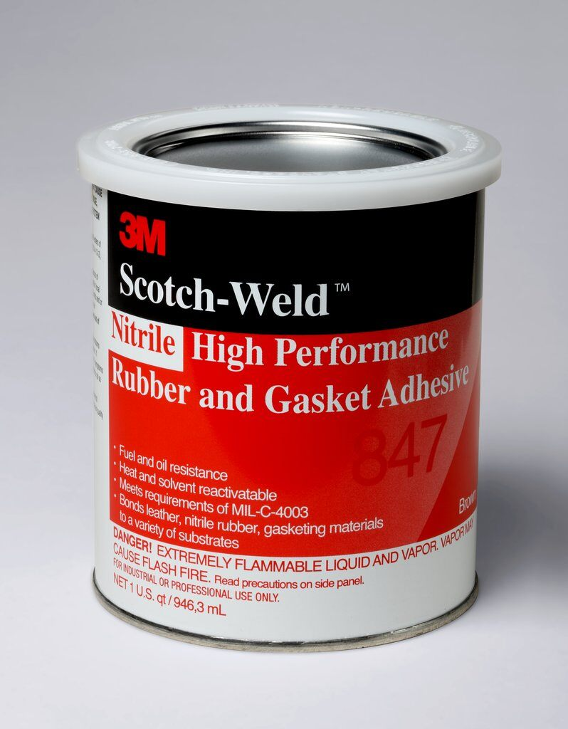 3M™ 847-1quart High Performance Rubber and Gasket Adhesive, 1 qt Can