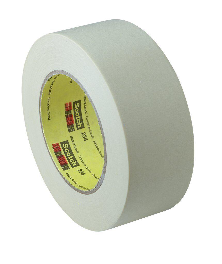 3M™ 234-24mmx55m General Purpose Masking Tape, 55 m L x 24 mm W, 5.9 mil THK, Rubber Adhesive, Crepe Paper Backing