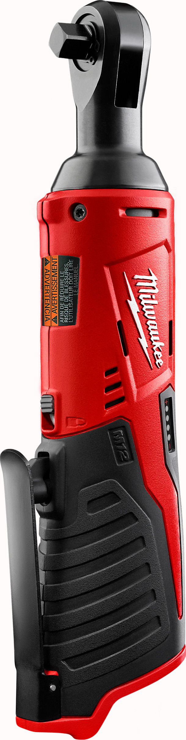 Milwaukee® M12™ 2457-20 Double Insulated Cordless Ratchet, 3/8 in Drive, 35 ft-lb Torque, 250 rpm Speed, 12 VDC, Lithium-Ion Battery, 10-3/4 in OAL