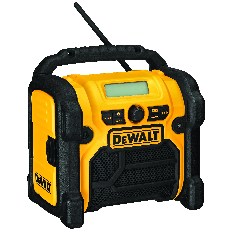 DeWALT® DCR018 Heavy Duty Cordless Worksite Radio, 12/18/20 VDC, Li-Ion/Ni-Cd Battery