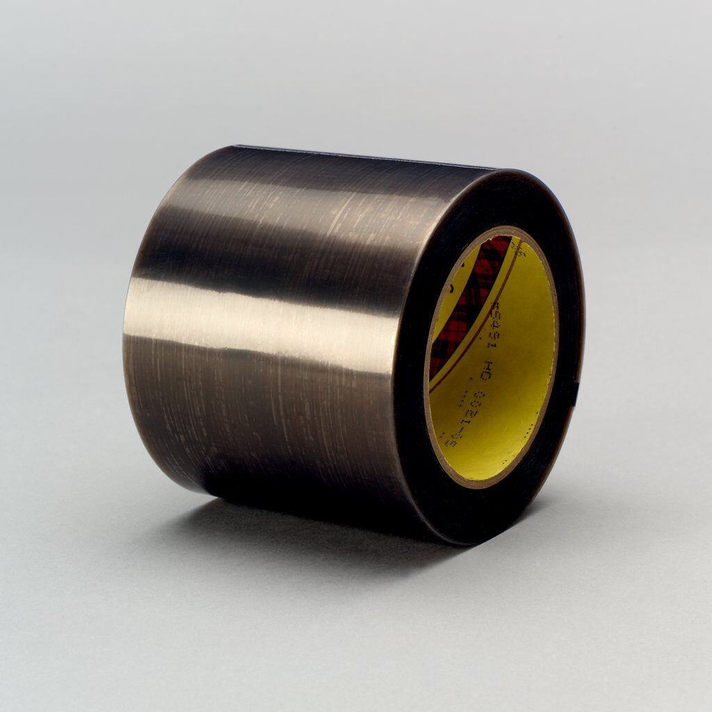 3M™ 5491 Film Tape, 36 yd L x 3 in W, 6.7 mil THK, Silicon Adhesive, Extruded PTFE Backing, Gray