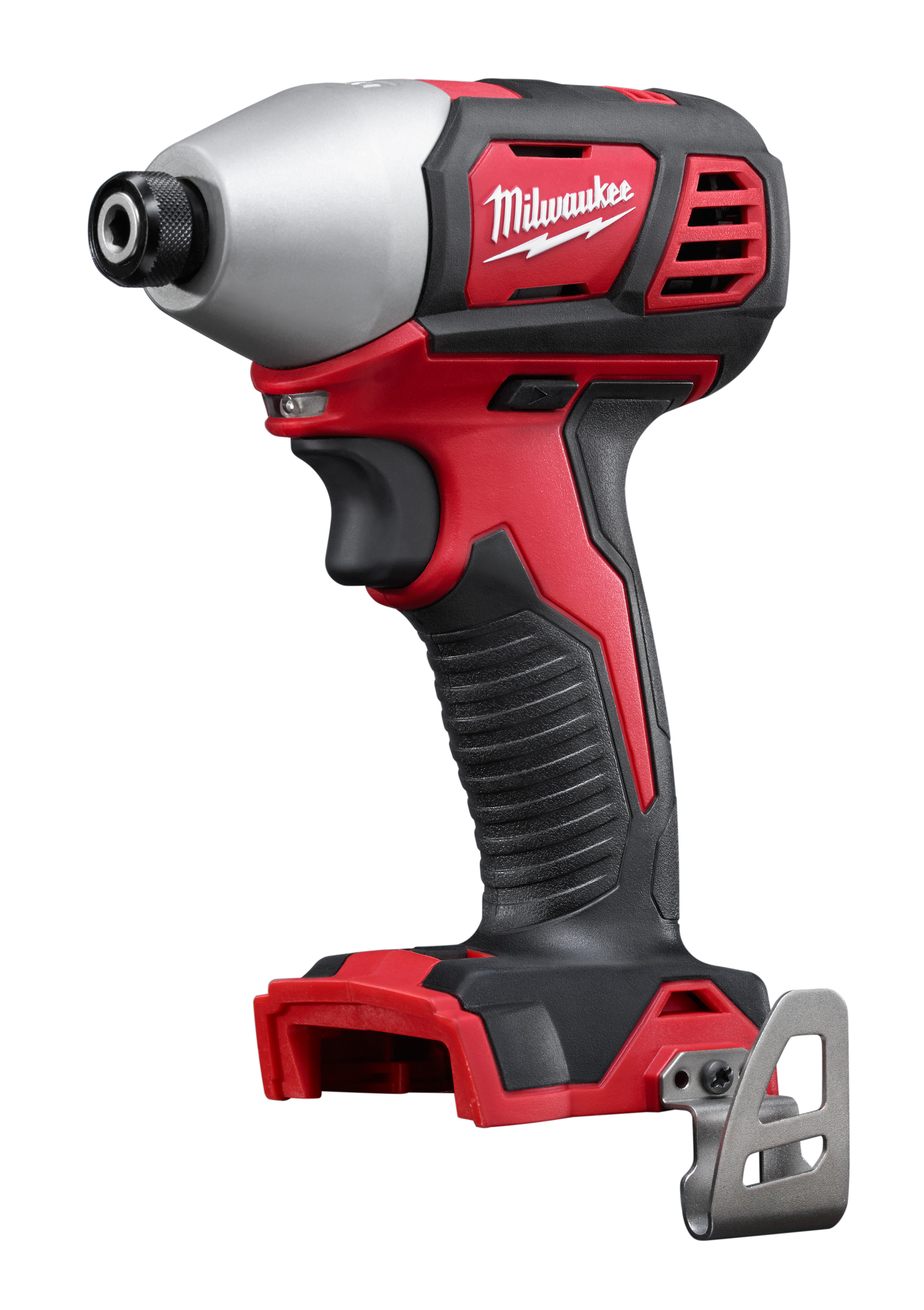 Milwaukee® M18™ 2657-20 2-Speed Compact Cordless Impact Driver With Belt Clip, 1/4 in Hex/Straight Drive, 3450 bpm, 1500 in-lb Torque, 18 VAC, 5-1/2 in OAL