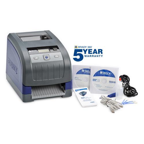 Brady® BBP33-C BBP®33 Desktop Label Printer With Auto Cutter, Thermal Transfer Print, 4 in W Tape, LCD Display