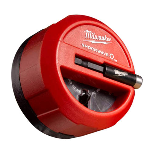 Milwaukee® SHOCKWAVE™ 48-32-4012 Impact Duty Puck Set, 22 Pieces, Phillips®/Square Recess/Torx®/Slotted Tip, Steel
