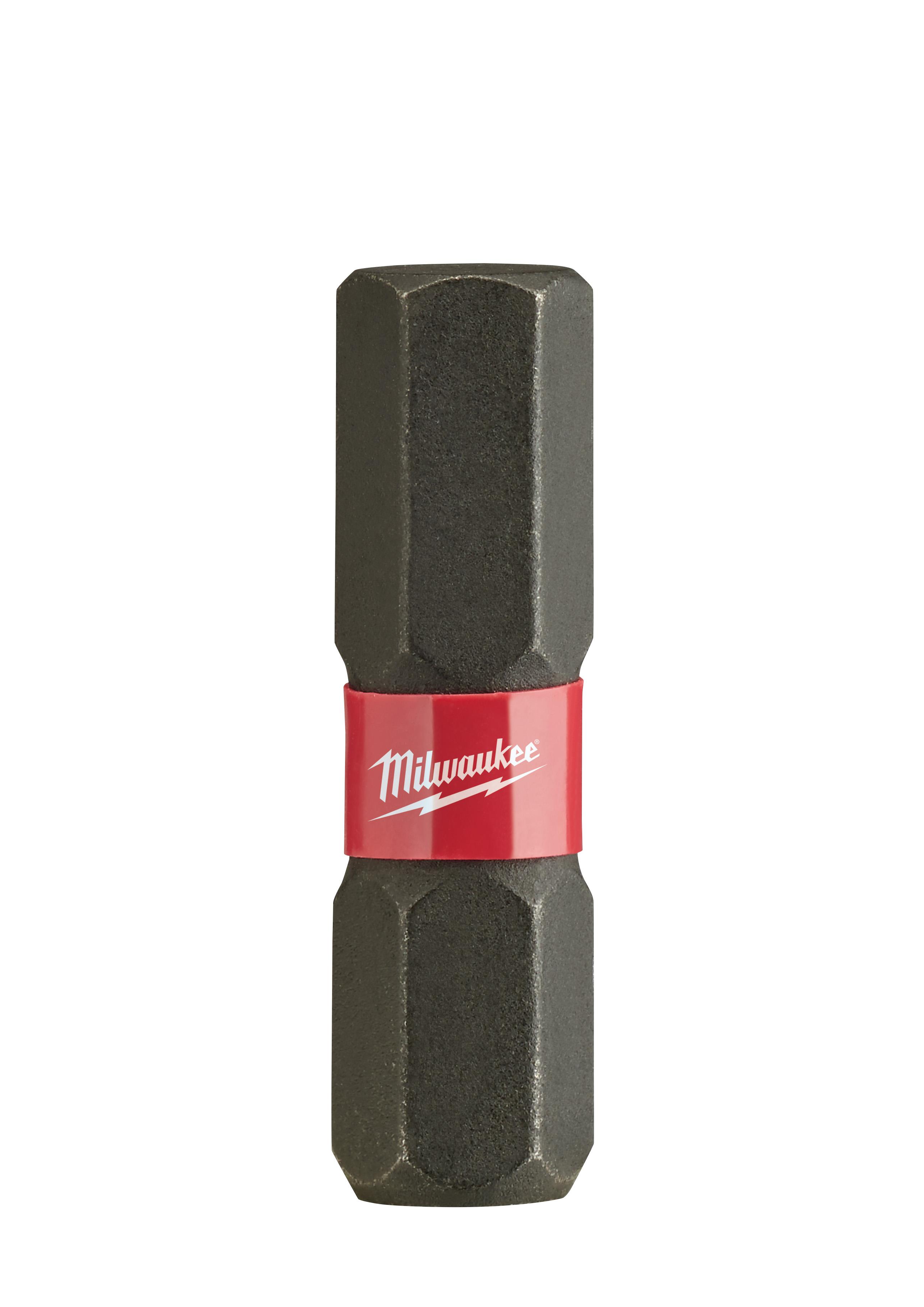 Milwaukee® SHOCKWAVE™ 48-32-4709 Impact Insert Bit, 1/4 in Hex Point, 1 in OAL, Custom Alloy76™ Steel