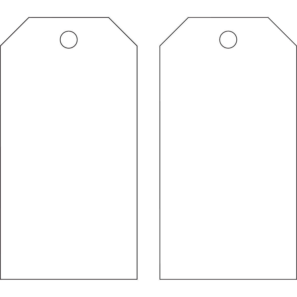 Brady® 65372 Write-On Accident Prevention Tag, 5-3/4 in H x 3 in W, B-851 Polyester, White, Rectangle Shape