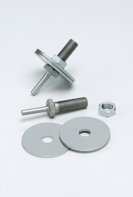3M™ 048011-04021 934 Mini Regular Unitized Wheel Mandrel, 1/2 in, 2 to 3 in Dia Wheel, 1/4 in Shank, 3-1/6 in OAL, For Use With 2 to 3 in Dia and 1/4 to 1 in THK Wheel