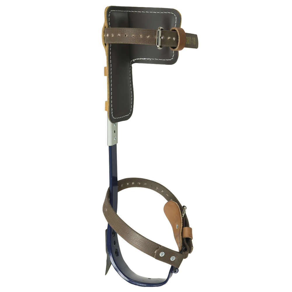 Klein® CN1972AR Pole Climber Set, 15 to 19 in L, For Use With Pole and Tree Climbing, Leather