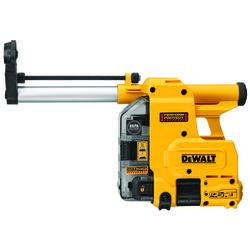 DeWALT® DWH304DH Corded/Cordless Dust Extractor, For Use With DCH293 1-1/8 in Cordless and D25333 1-1/8 in Corded SDS Plus Rotary Hammer, 1 in Dia, 8 in L Usable, 10 in L Bit