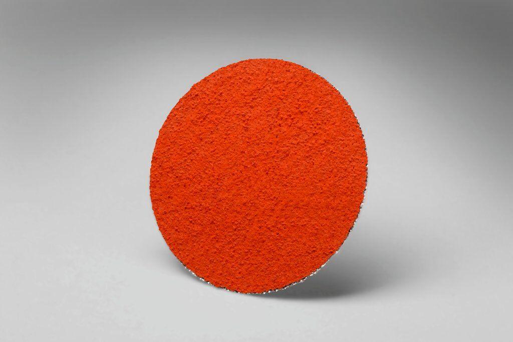 3M™ 051144-76433 777F Close Close Coated Abrasive Disc, 2 in Dia Disc, 60 Grit, Medium Grade, Ceramic Abrasive, Type TR Attachment