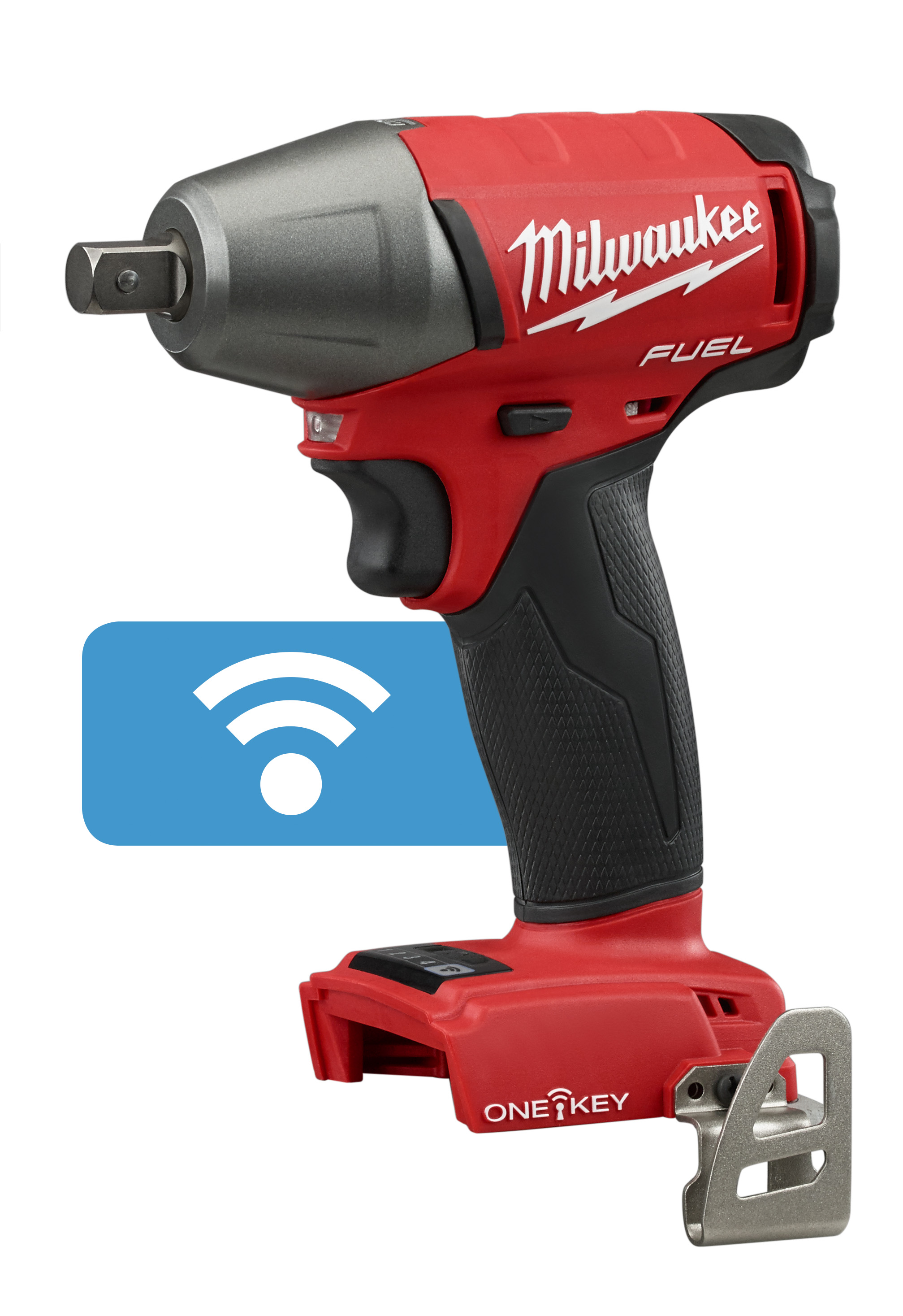 Milwaukee® M18™ FUEL™ 2759-20 Compact Cordless Impact Wrench With Pin Detent, 1/2 in Straight Drive, 0 to 3200 bpm, 220 ft-lb Torque, 18 VDC, 6-1/8 in OAL