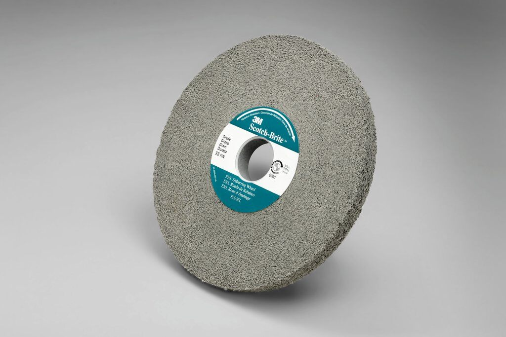3M™ 05790 EXL High Performance Deburring Wheel, 6 in Dia Wheel, 1 in Center Hole, 1/2 in W Face, Fine Grade, Silicon Carbide Abrasive