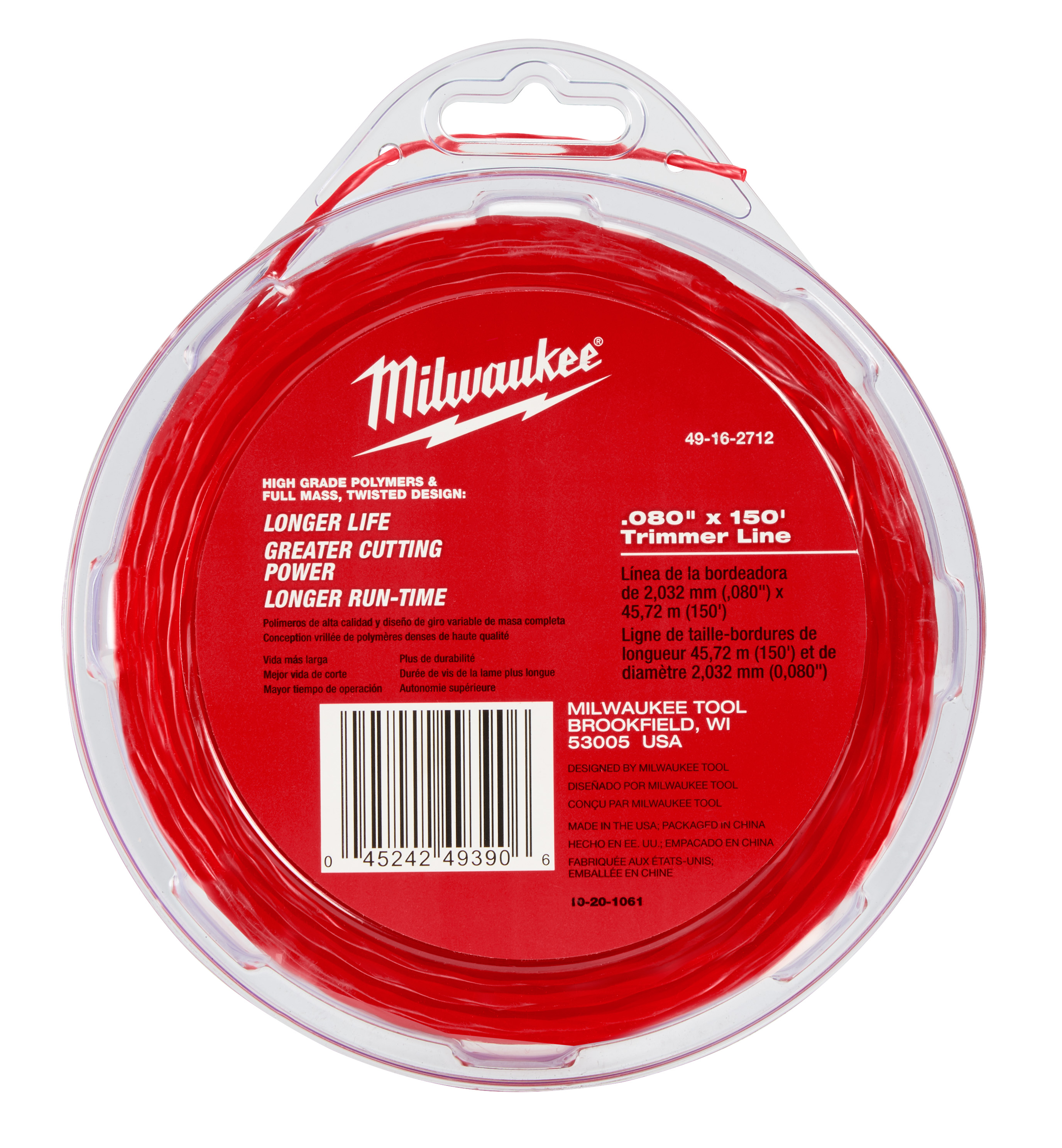 Milwaukee® 49-16-2712 Trimmer Line, For Use With M18™ FUEL™ 2725-20 String Trimmer