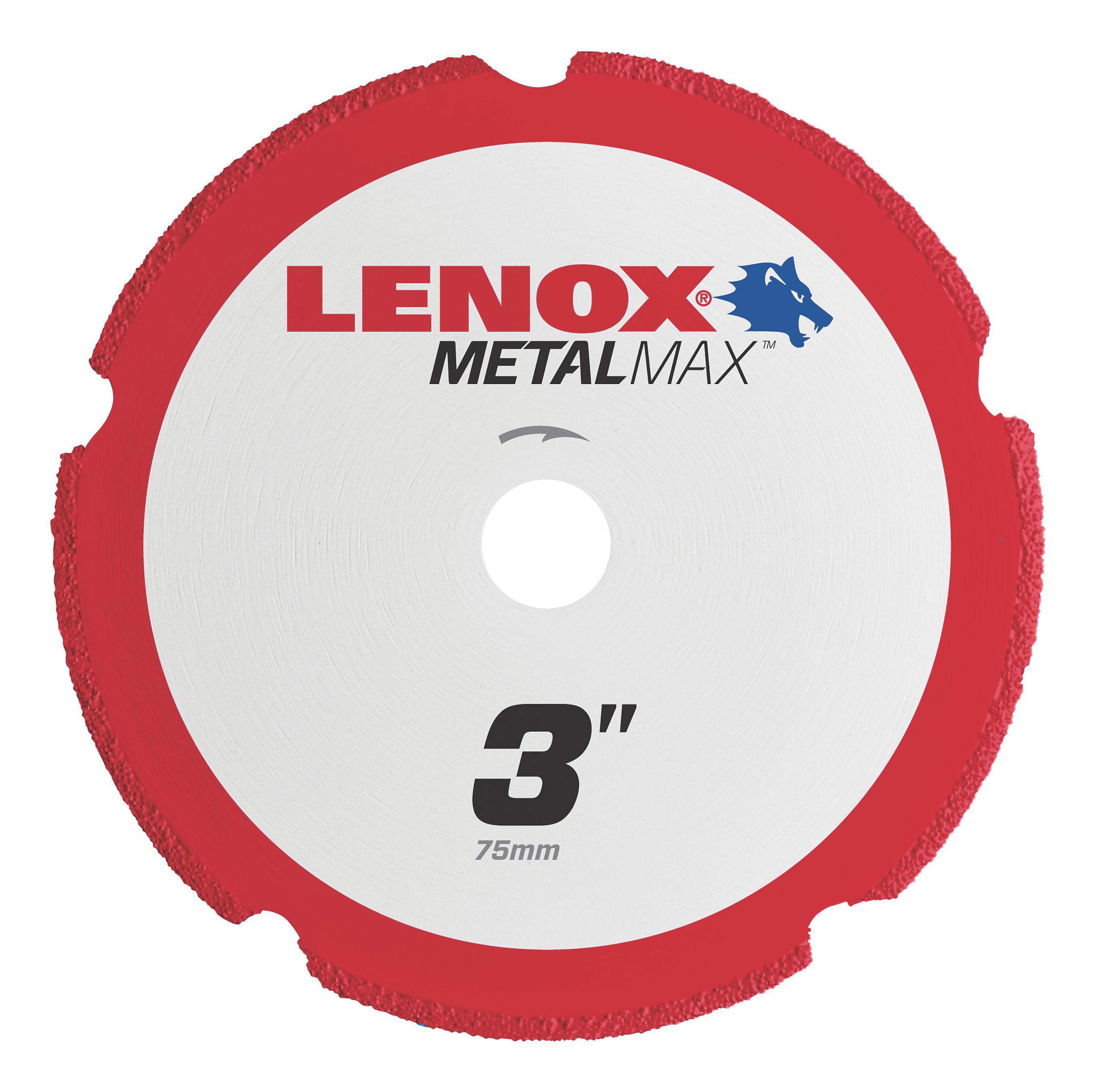 LENOX® TOOLS METALMAX™ 1972918 METALMAX™ Type 1 Cut-Off Wheel, 3 in Dia x 0.05 in THK, 3/8 in Center Hole, 40/50 Grit, Diamond Abrasive