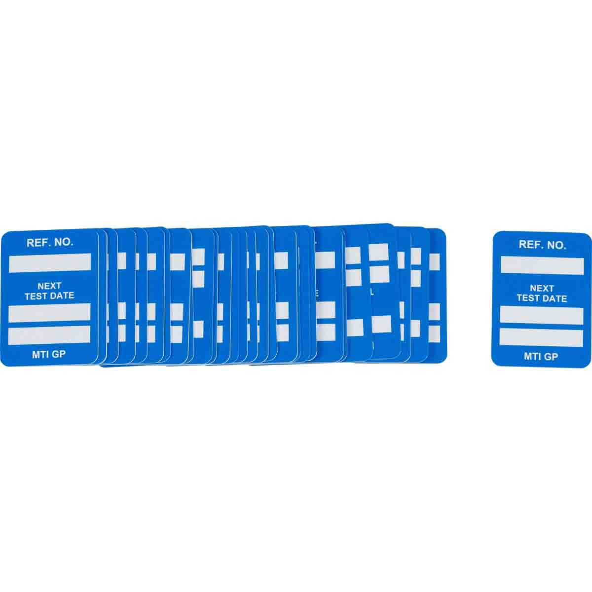 Brady® 104144 Rectangle Insert Tag, 1-1/4 in H x 1-1/4 in W, White on Blue, B-874 Plastic
