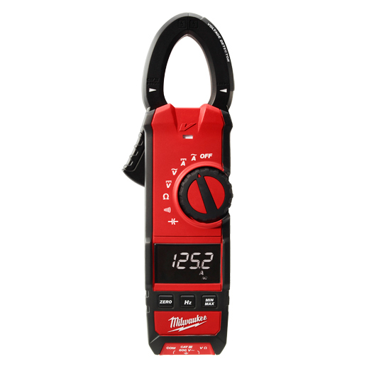 Milwaukee® 2237-20 Clamp Meter, 600 A 600 VAC/VDC, 6 kOhm, 1 Hz to 10 kHz, 1.3 in Jaw, High Contrast White on Digital Display