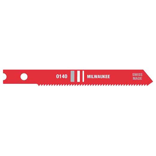 Milwaukee® 48-42-0140 Heavy Duty Jig Saw Blade, 2-3/4 in L x 9/32 in W, 24, HSS Cutting Edge, HSS Body