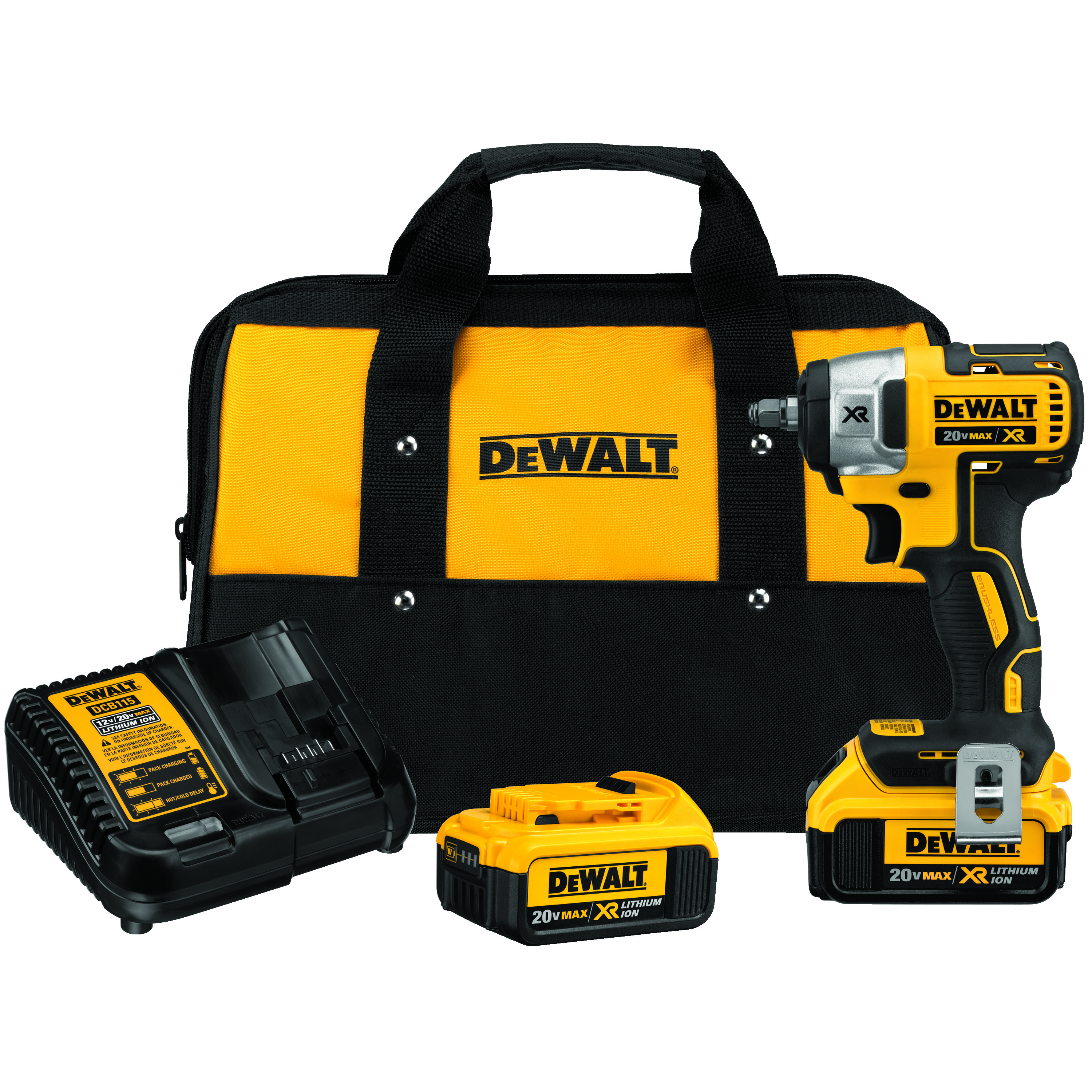 DeWALT® 20V MAX* MATRIX™ XR™ DCF890M2 Cordless Impact Wrench, 3/8 in Straight Drive, 2700 bpm, 150 ft-lb Torque, 20 V, 5-1/2 in OAL, Tool Only