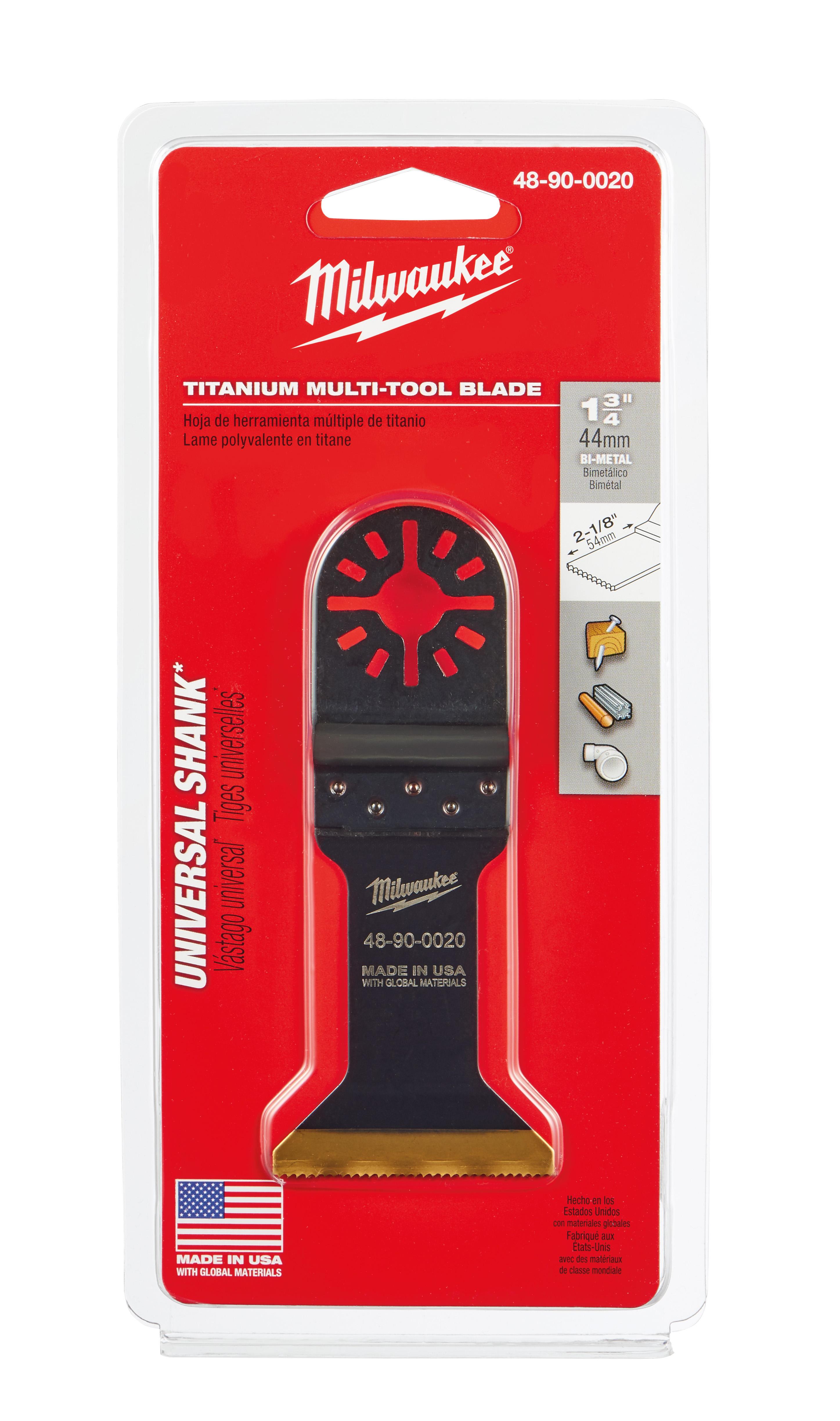 Milwaukee® 48-90-0020 Multi-Tool Blade, For Use With Oscillating Tool, 1-3/4 in Dia Cutting, Bi-Metal