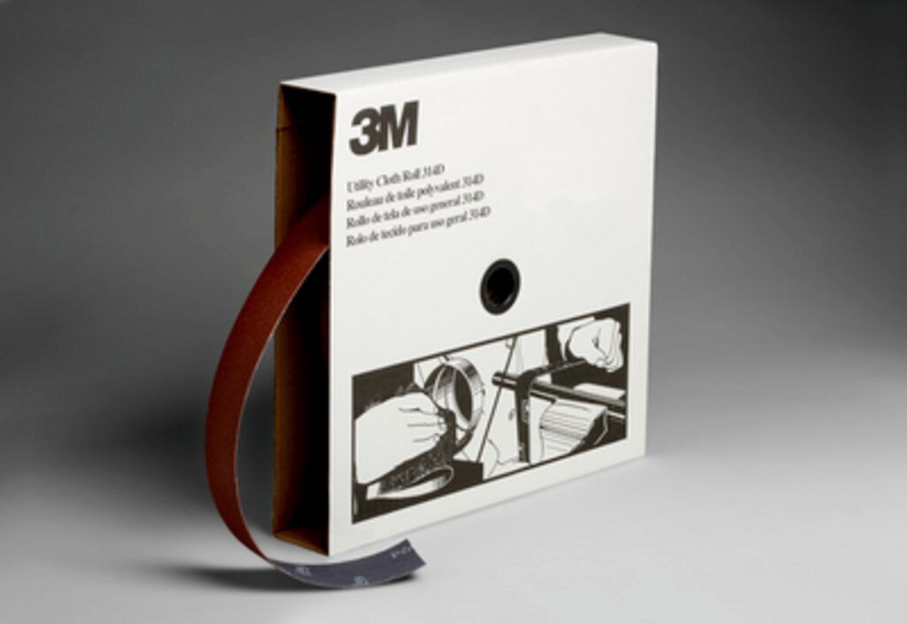 3M™ 19824 Utility Closed Coated Abrasive Roll, 50 yd L x 2 in W, 60 Grit, Medium Grade, Aluminum Oxide Abrasive, Cloth Backing