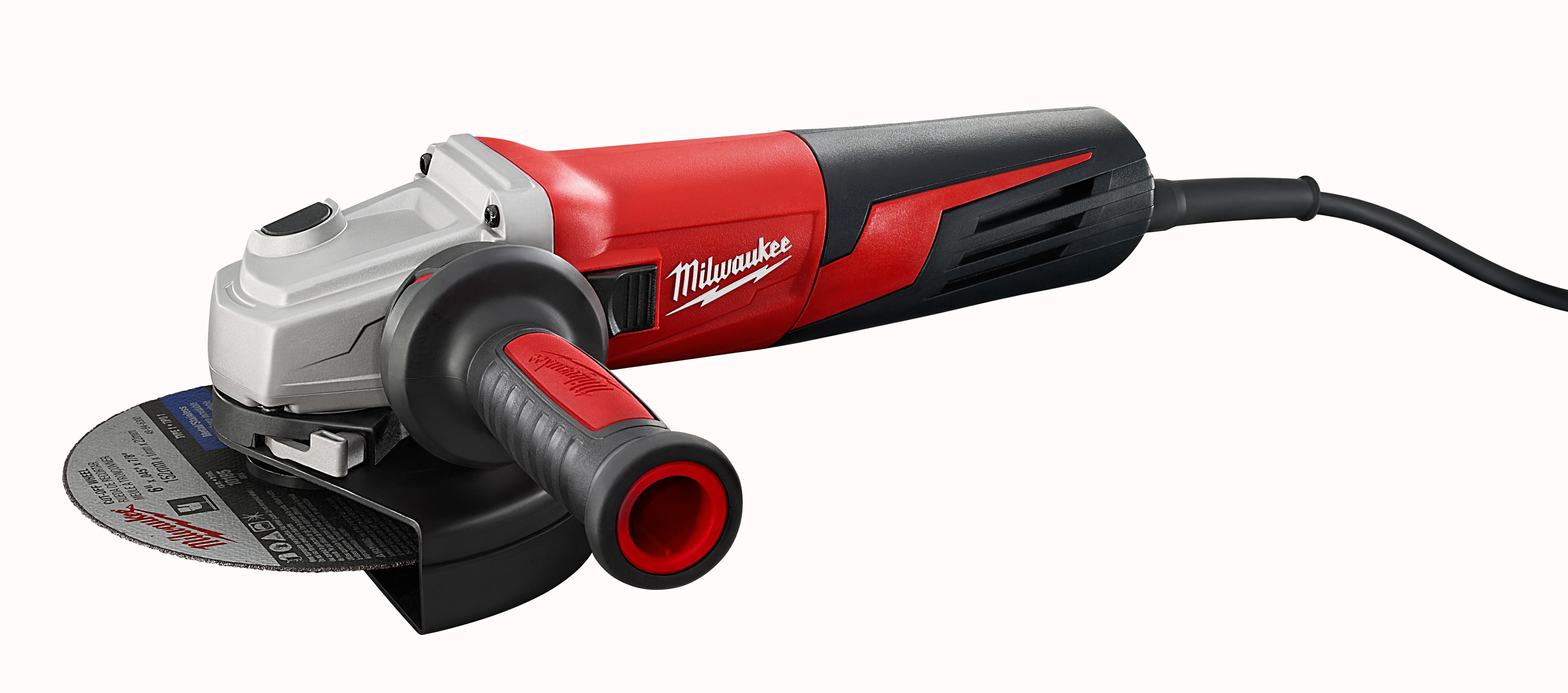Milwaukee® 6161-33 Double Insulated Small Angle Grinder, 6 in Dia Wheel, 5/8-11 Arbor/Shank, 120 VAC, Red