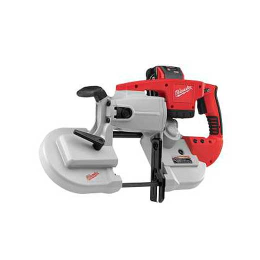 Milwaukee® M28™ 0729-21 Cordless Band Saw Kit, 4-3/4 in Cutting, 44.875 in L x 0.5 in W x 0.02 in THK Blade, 28 VDC, 3 Ah Lithium-Ion Battery