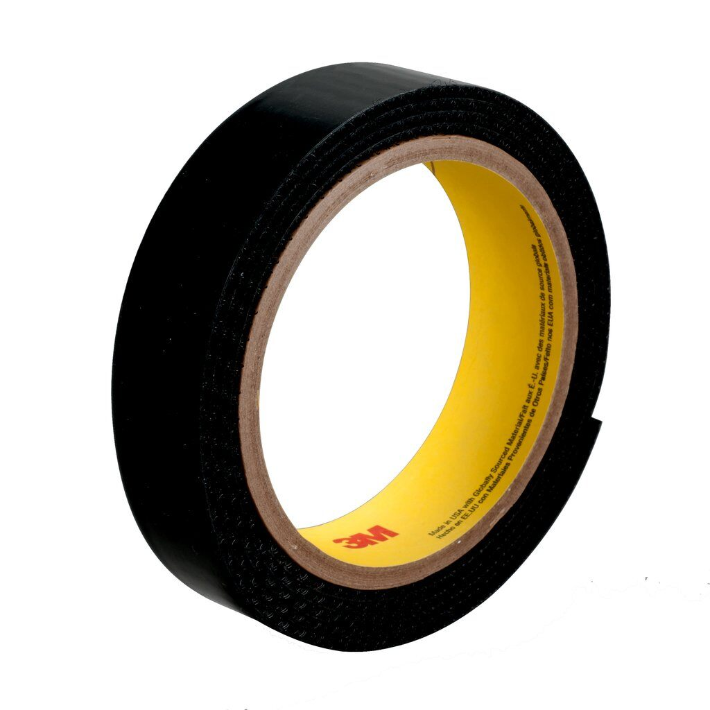 3M™ SJ3523 Reclosable Loop Fastener Tape, 50 yd L x 1 in W, 0.15 in THK Engaged, Acrylic Adhesive, Woven Nylon Backing, Black