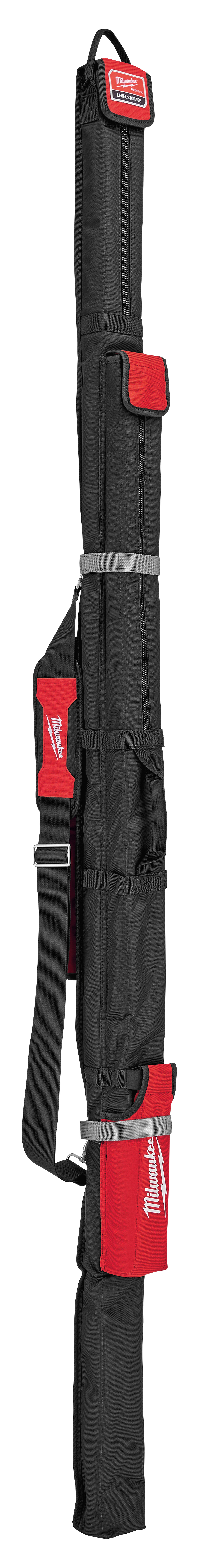 Milwaukee® MLSB78 Level Bag, For Use With 78 in Level, Zipper Closure, 4-Pockets, Nylon, Black/Red