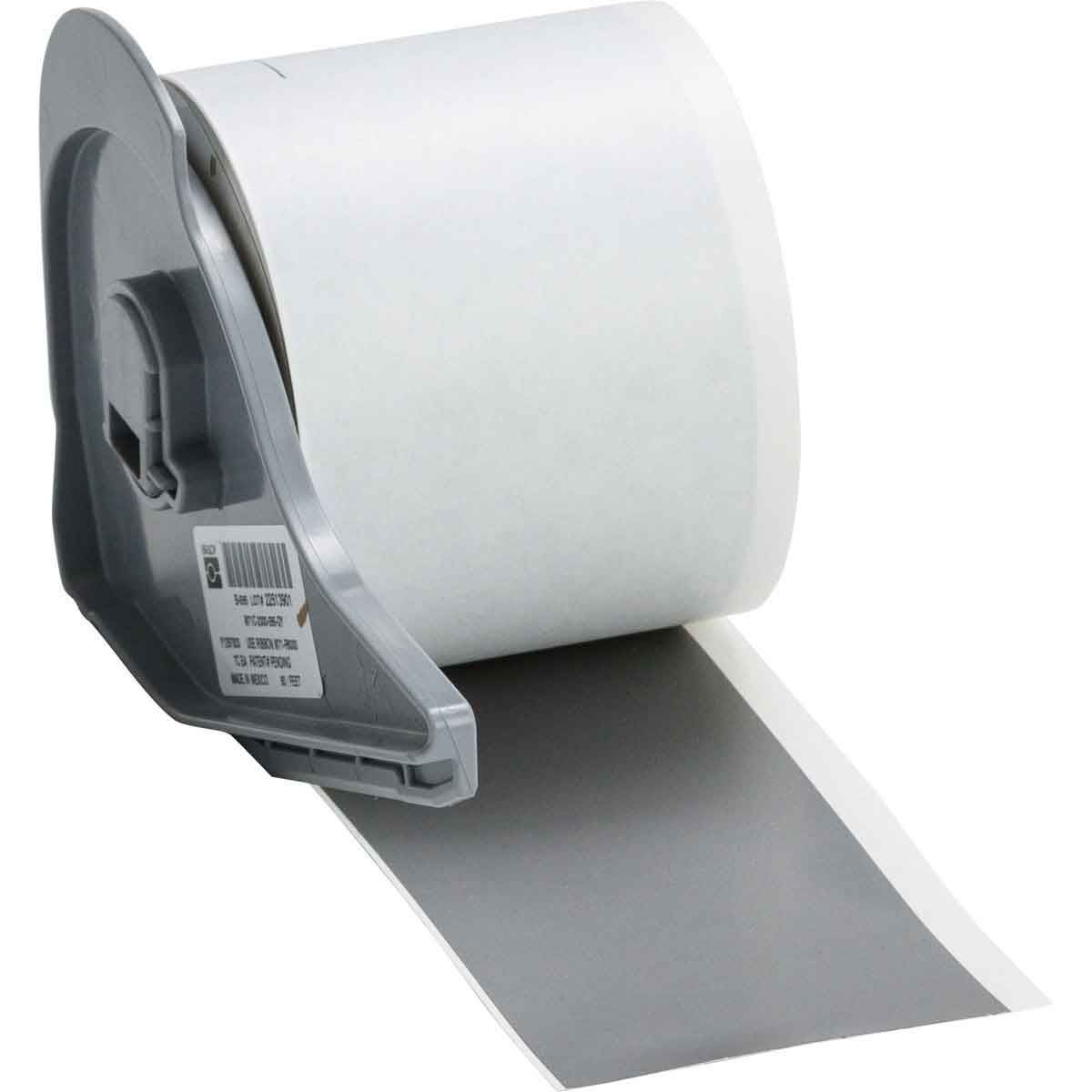 Brady® M71C-2000-595-GY Blank Thermal Transfer Tape, 50 ft L x 2 in W, Gray, B-595 Vinyl, Permanent Acrylic Adhesive, -40 to 180 deg F