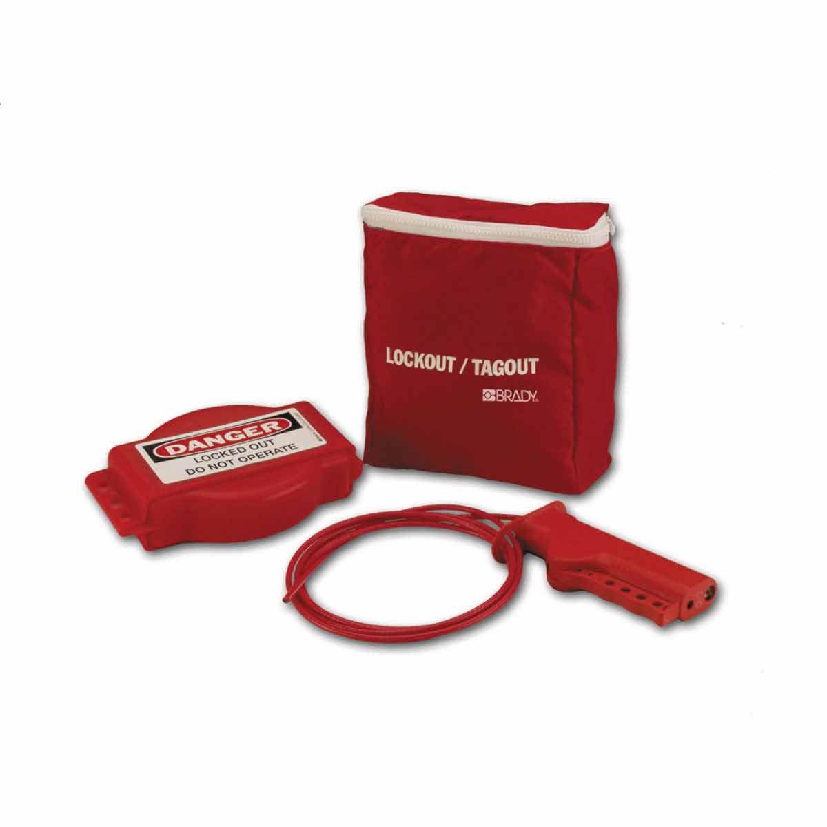 Brady® 101416 Gate Valve Lockout Kit, 3 Pieces, 8 in H x 7 in W, Language: English