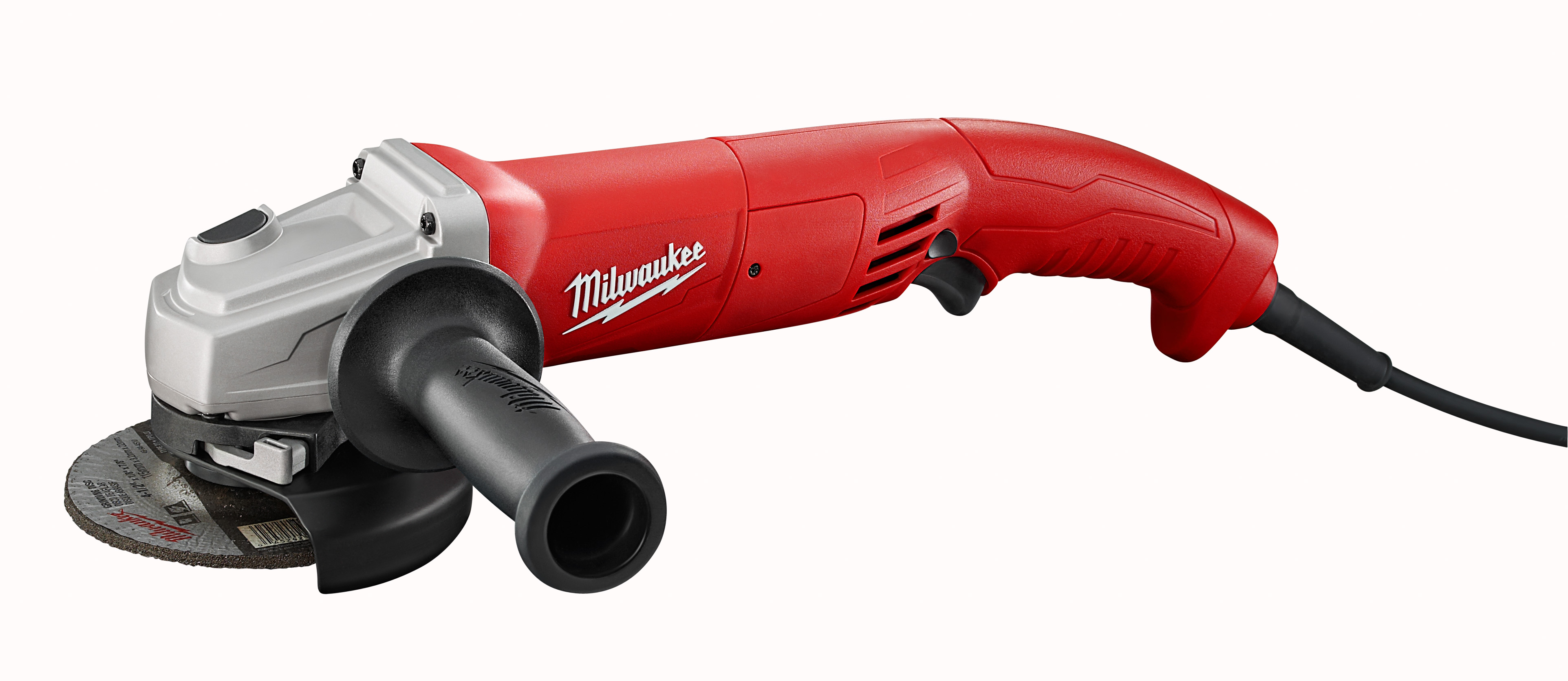 Milwaukee® 6121-31 Double Insulated Small Angle Grinder, 4-1/2 in Dia Wheel, 5/8-11 UNC Arbor/Shank, 120 VAC, Black/Red/Silver