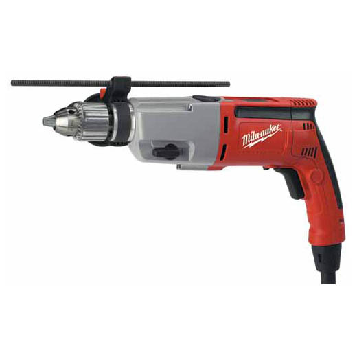 Milwaukee® 5387-20 Double Insulated Dual Speed Reversing Corded Hammer Drill, 1/2 in Keyed Chuck, 120 VAC, 14-3/4 in OAL