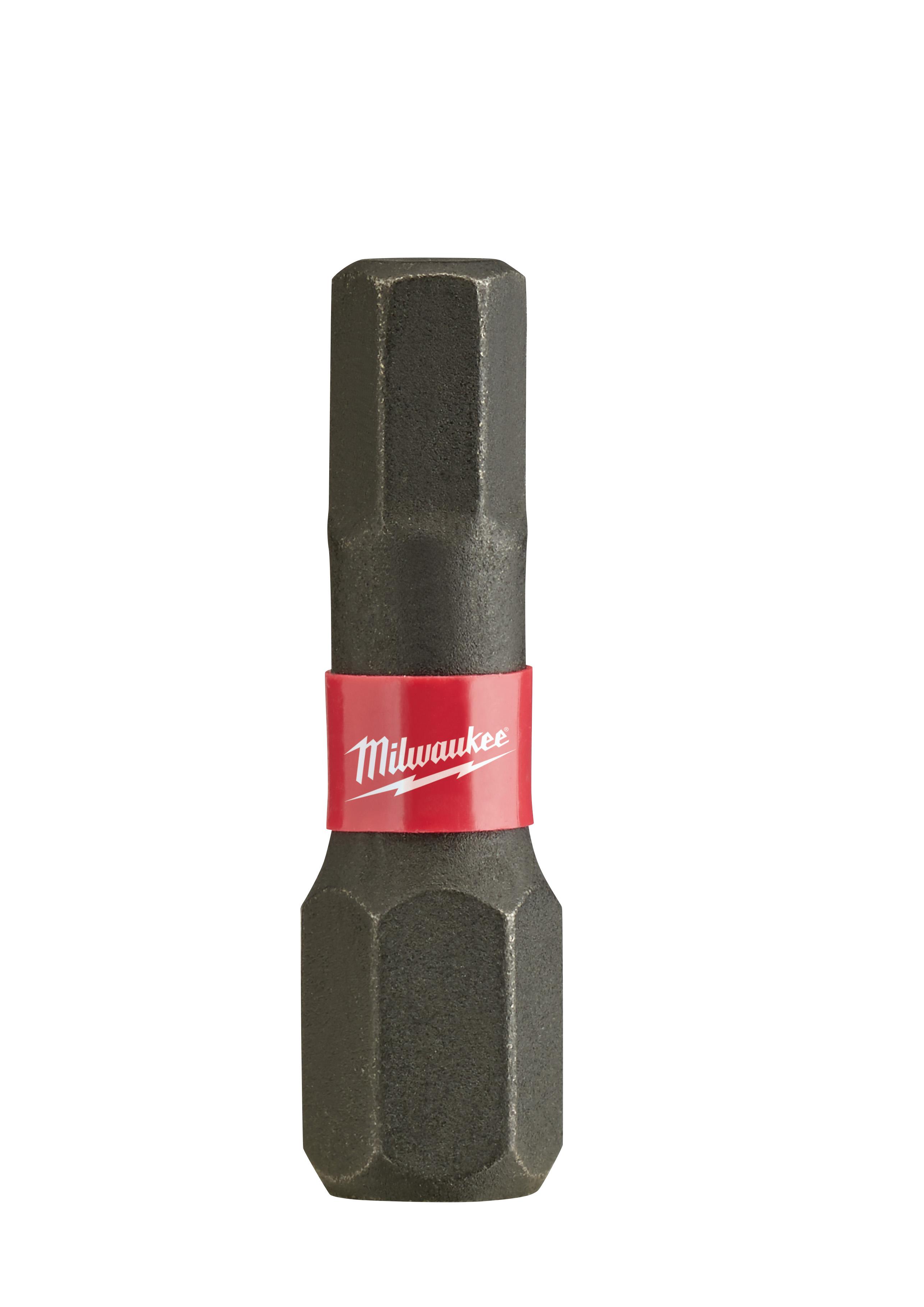 Milwaukee® SHOCKWAVE™ 48-32-4727 Impact Insert Bit, 5 mm Hex Point, 1 in OAL, Custom Alloy76™ Steel