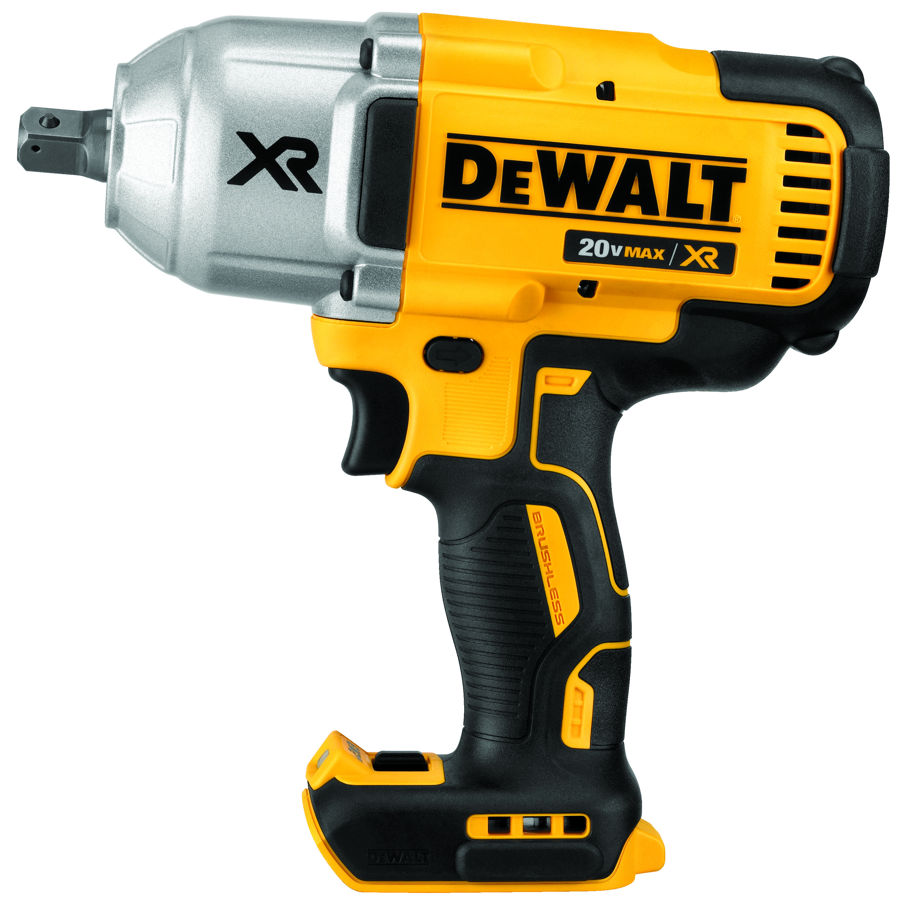 DeWALT® 20V MAX* MATRIX™ XR™ DCF899B Compact Cordless Impact Wrench, 1/2 in Straight Drive, 700 ft-lb Torque, 20 VDC, 8-13/16 in OAL, Tool Only