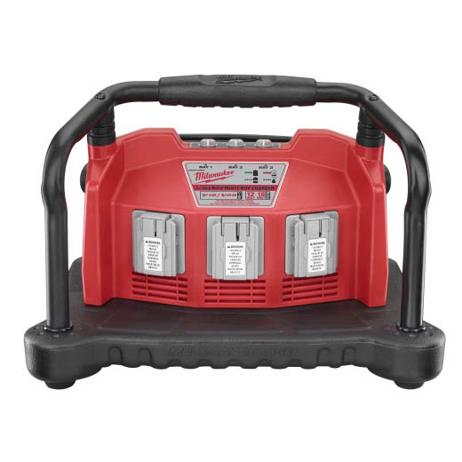 Milwaukee® M28™ 48-59-0280 Multi-Bay Universal Charger, For Use With Milwaukee® M28™ Lithium-Ion, 18 V Lithium-Ion and Ni-Cd Battery, Li-Ion/Ni-Cd Battery, 45 min Ni-Cd/60 min Lithium-Ion Charging, 3 Batteries