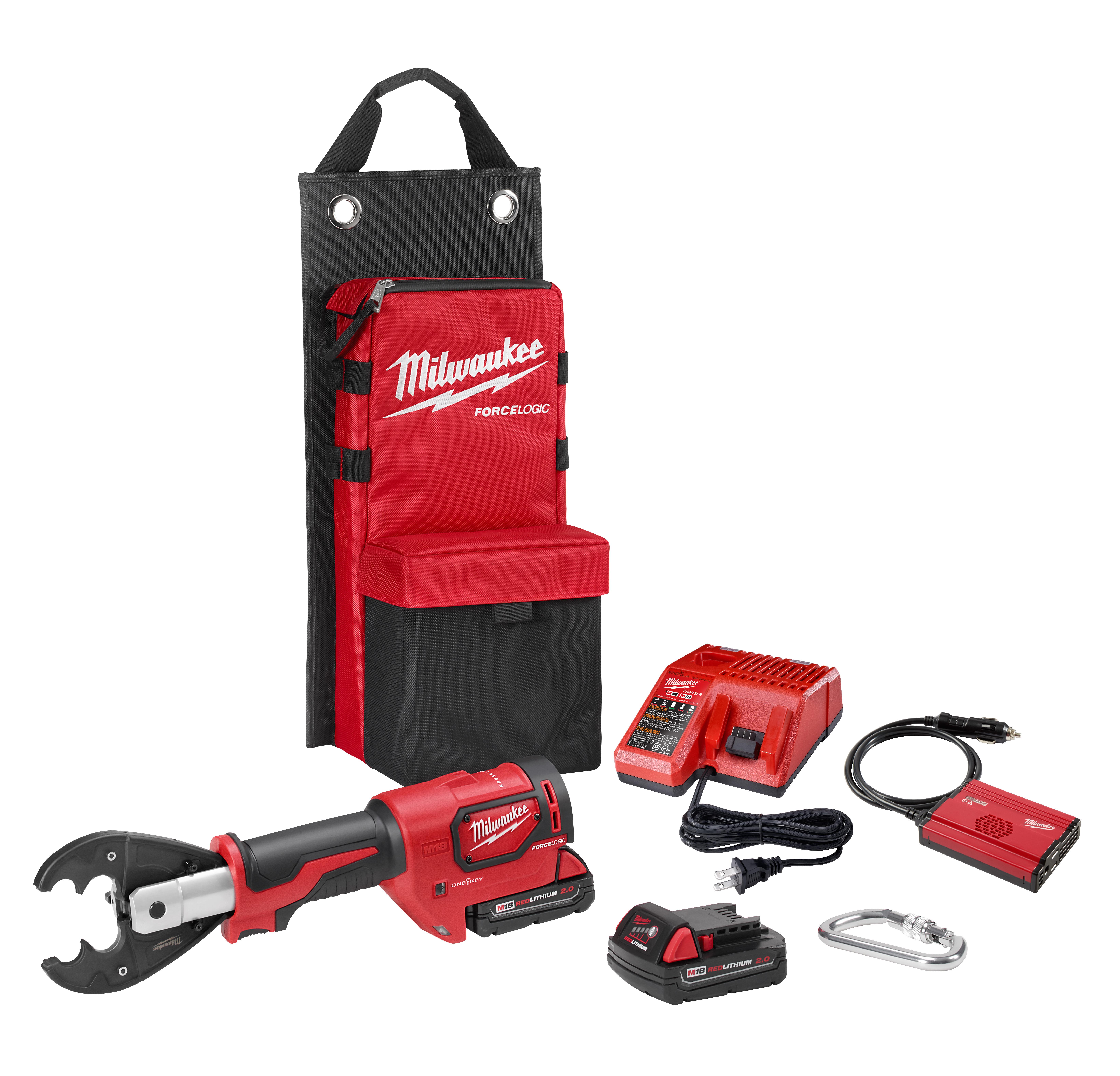 Milwaukee® M18™ FORCE LOGIC™ 2678-OKIT Utility Crimper Kit, 18 VDC, Lithium-Ion Battery, 14 in OAL