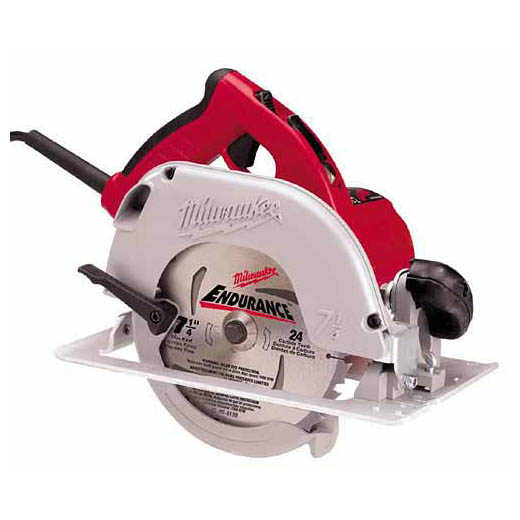 Milwaukee® 6390-20 TILT-LOK™ Corded Circular Saw, 7-1/4 in Dia Blade, 5/8 in Arbor/Shank, 1-13/16 in at 45 deg, 1-11/16 in at 50 deg, 2-7/16 in at 90 deg Cutting, Right Blade Side