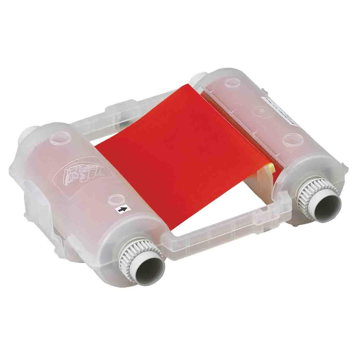 Brady® 76743 R10000 1-Color Industrial Grade Printer Ribbon, 200 ft L x 4.11 in W, Resin, Red